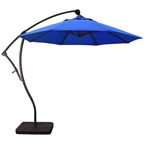 Bayside 9 1/4-Foot Pacific Blue Cantilever Market Umbrella