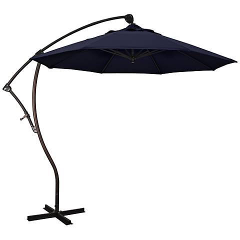 Bayside 9 1/4-Foot Navy Blue Cantilever Market Umbrella