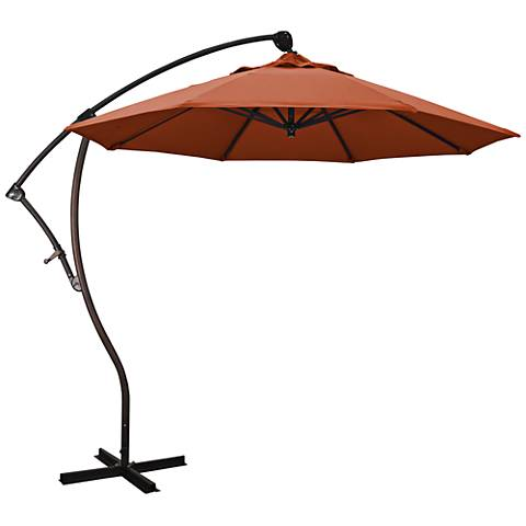 Bayside 9 1/4-Foot Brick Pacifica Cantilever Market Umbrella
