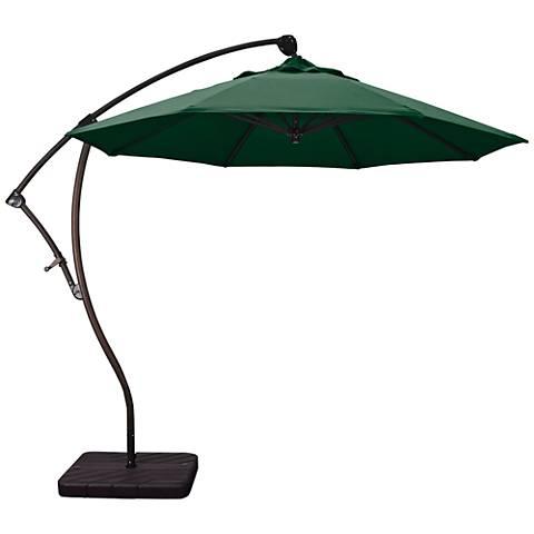 Bayside 9 1/4-Foot Hunter Green Cantilever Market Umbrella