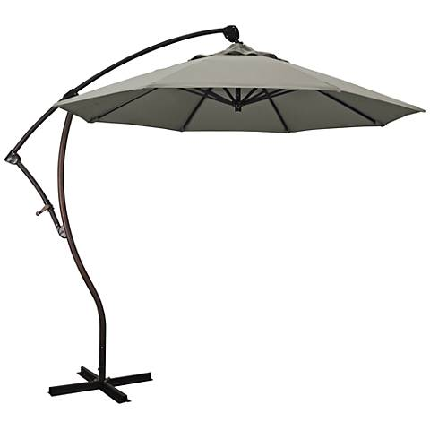 Bayside 9 1/4-Foot Taupe Pacifica Cantilever Market Umbrella
