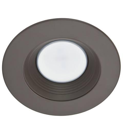 "4"" Bronze 9 Watt Round 550 Lumen LED Retrofit Trim"