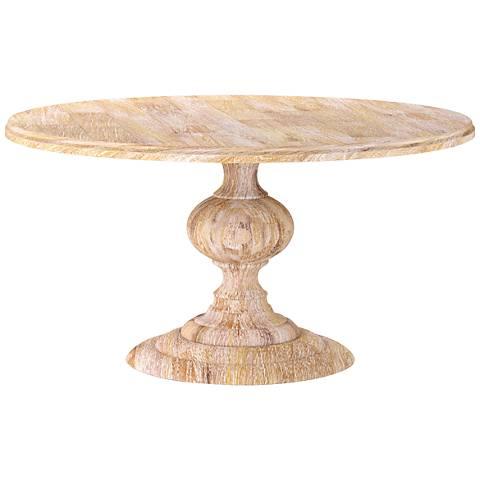 Magnolia White Wash Mango Wood Large Round Dining Table