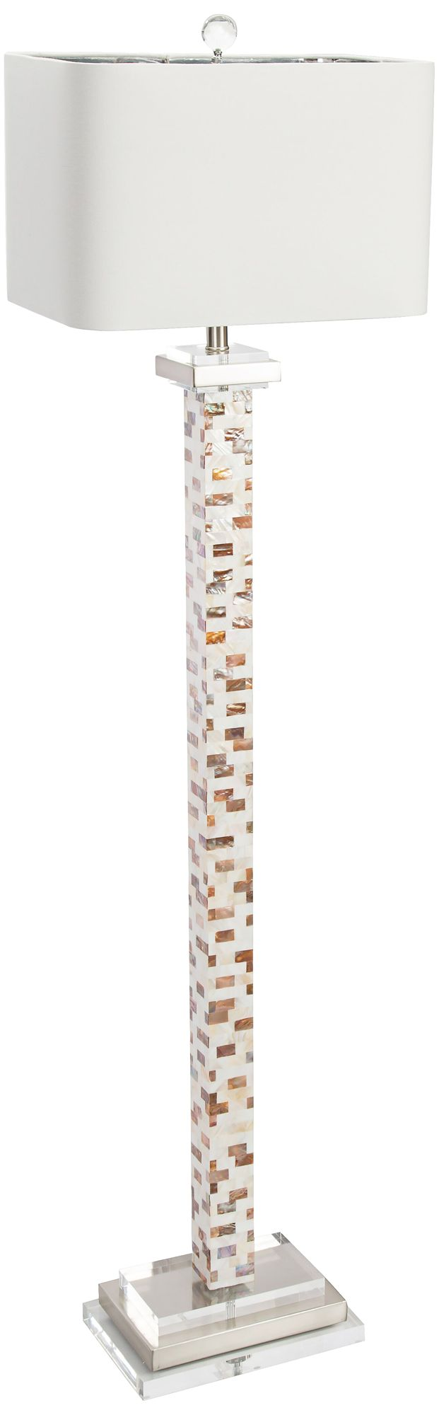 couture soho mother of pearl floor lamp