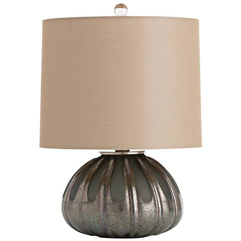 """Eva 16 1/2"""" High Two-Tone Charcoal Glass Accent Table Lamp"""