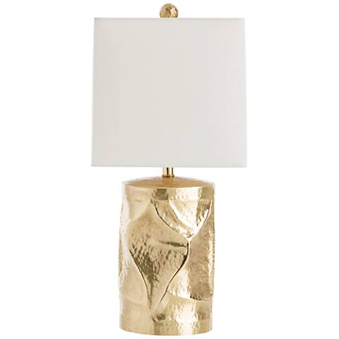 Arteriors Home Delores Hammered and Brushed Brass Table Lamp