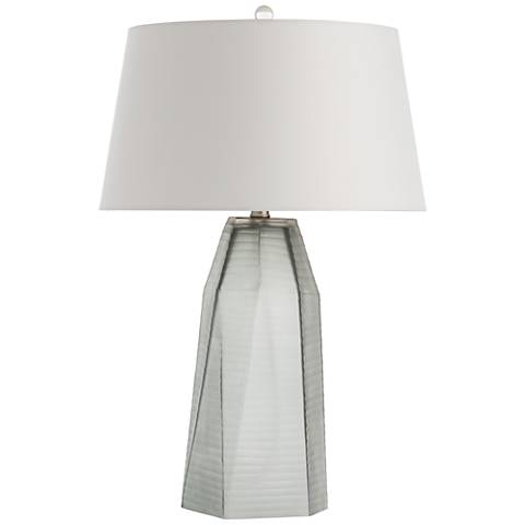 Arteriors Home Foster Smoke Faceted Glass Table Lamp