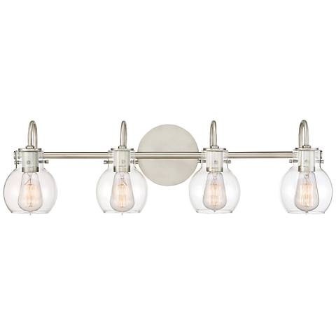 Quoizel Andrews 30 1 2 Quot Wide Antique Nickel Bath Light