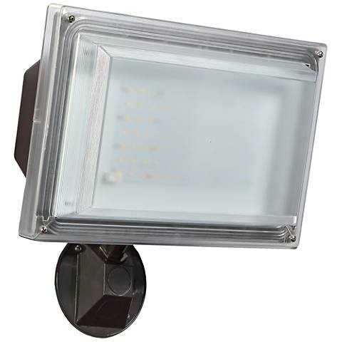 Severe-Weather Bronze 42 Watt LED Dusk to Dawn Flood Light