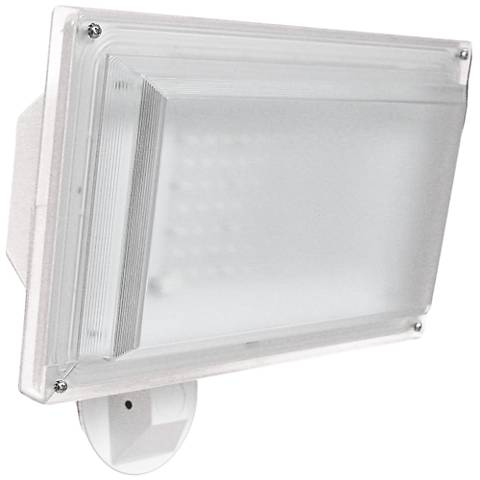 Severe-Weather White 42 Watt LED Dusk to Dawn Flood Light