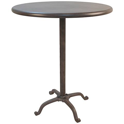 Redford Metal Round Outdoor Bar Table