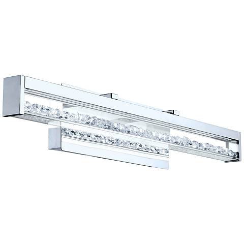 "Eglo Cardito 27 1/2"" Wide Chrome LED Bath Light"