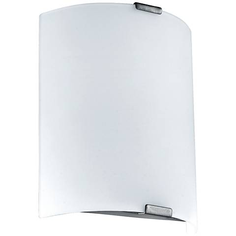 "Eglo Grafik 11 1/2"" High Silver LED Wall Sconce"