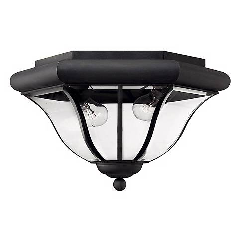 "Hinkley San Clemente 14"" Wide Black Outdoor Ceiling Light"
