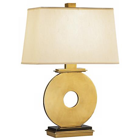 robert abbey antique brass o table lamp 15376 lamps plus. Black Bedroom Furniture Sets. Home Design Ideas