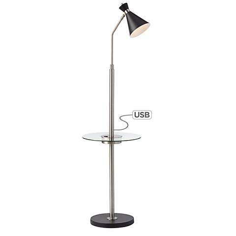 Donovan LED Floor Lamp with Tray Table and USB Port