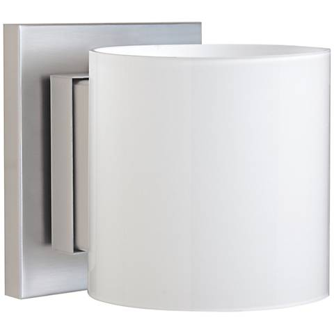 "Besa Pogo 5 1/2"" High Satin Nickel Wall Sconce"