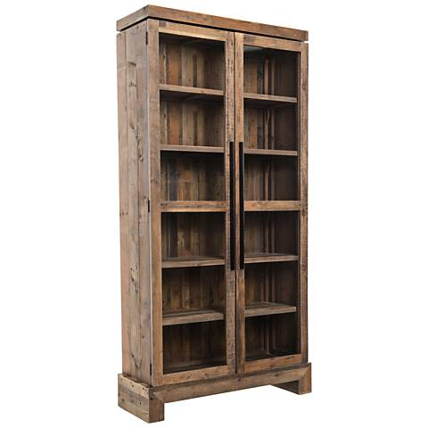Camino Rustic Natural Mixed Reclaimed Wood Bookcase