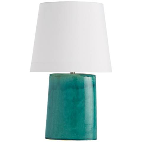 Arteriors Home Edie Teal Reactive Glaze Porcelain Table Lamp