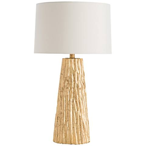 Arteriors Home Fowler Gold Leaf Hand-Carved Wood Table Lamp