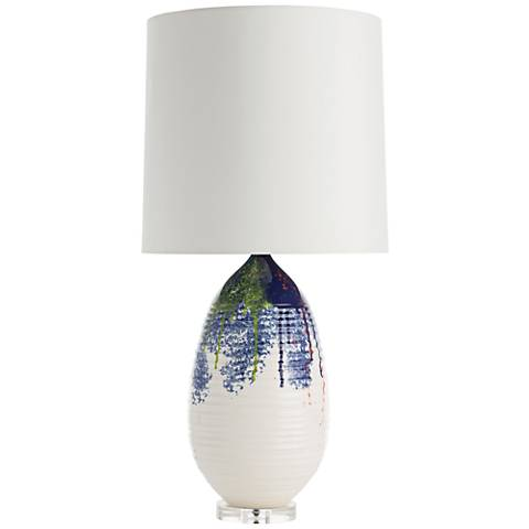 Arteriors Home Freida Multicolor Splash Porcelain Table Lamp