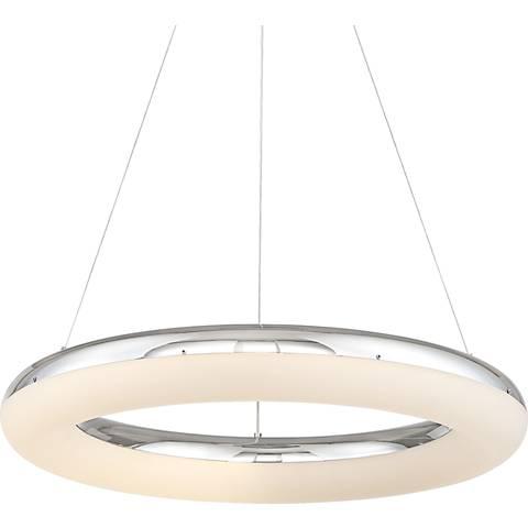 """Possini Euro Penitas LED 23 1/2""""W  Chrome LED Pendant"""