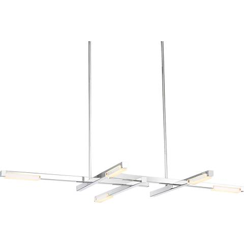 """Possini Euro Beemer 31"""" Wide LED Chrome Linear Pendant"""