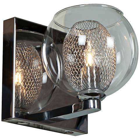 """Aeria 4 3/4"""" High Chrome and Clear Glass LED Wall Sconce"""