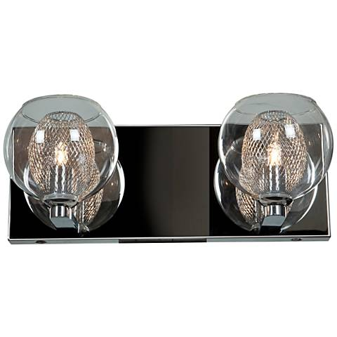 """Aeria 4 3/4"""" High Chrome and Clear Glass 2-LED Wall Sconce"""