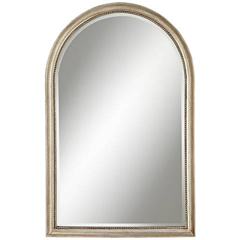 "Simone Champagne Silver Arch 27 1/2"" x 43"" Wall Mirror"