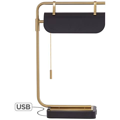 Nessa Mid-Century Modern LED Desk Lamp with USB Port