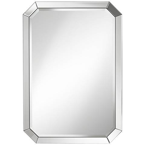 Square Frameless 18 Quot Wide Beveled Wall Mirror P1411