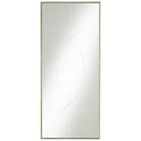 "Geometric Champagne 17"" x 39"" Rectangular Wall Mirror"