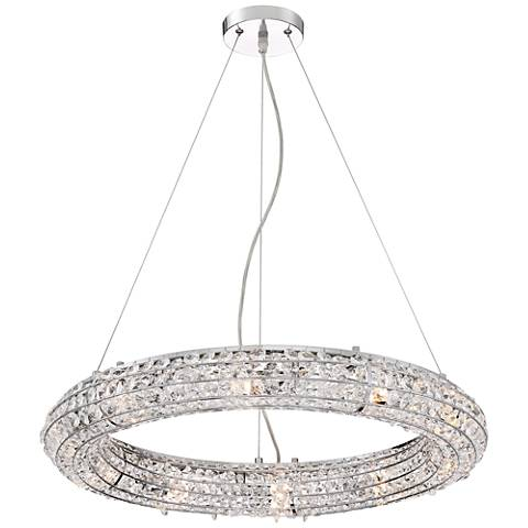 "Vien 24 1/2"" Wide Chrome and Crystal Pendant Light"