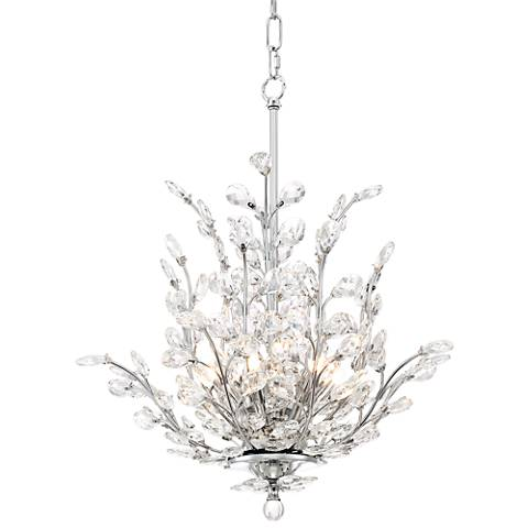 """Anthea 18 1/2"""" Wide Chrome and Crystal Pendant Light"""