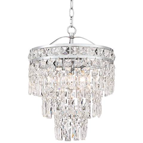 """Ender 12 1/2"""" Wide Chrome and Crystal Pendant Light"""