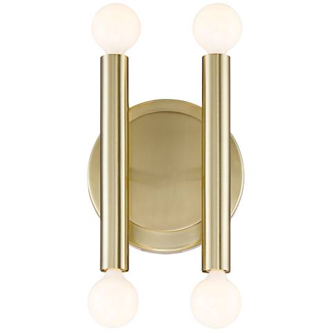"Possini Euro Hera 12 1/2"" High Polished Brass Wall Sconce"
