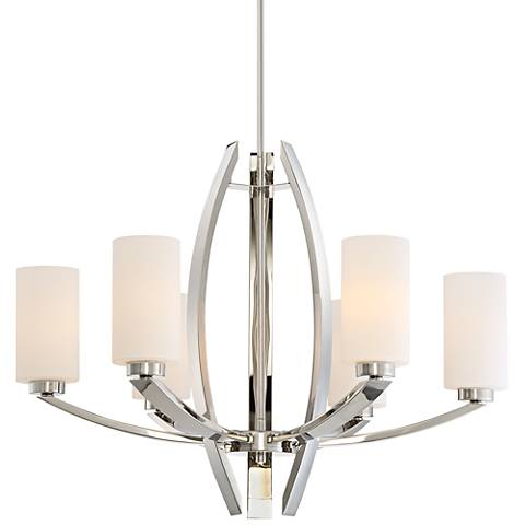 "Metropolitan Glimrende 28 3/4""W Polished Nickel Chandelier"