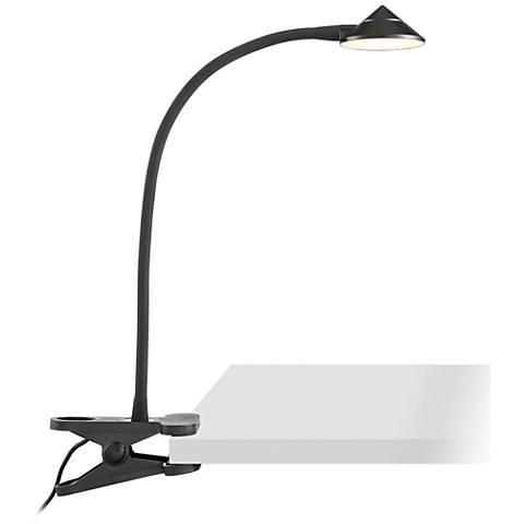 Black LED Clip Light - AC or USB Powered