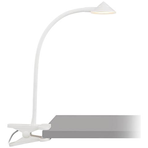 White Dimmable LED Clip Light with Micro USB Line