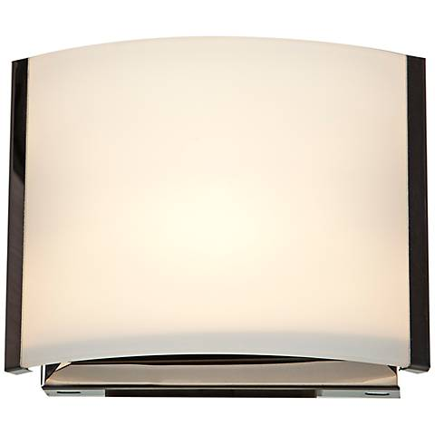 "Nitro 5 1/4"" High Brushed Steel LED Wall Sconce"