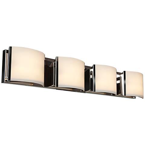 """Nitro 34 1/4"""" Wide Brushed Steel 4-LED Bath Light"""