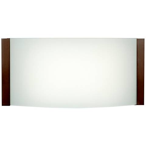 """Wave 4 1/2"""" High Bronze LED Wall Sconce"""