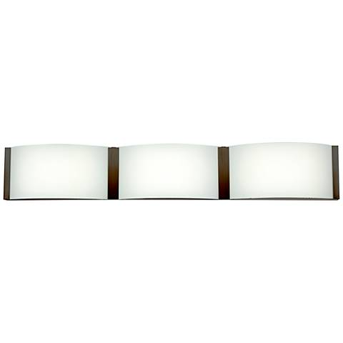 "Wave 27"" Wide Bronze 3-LED Bath Light"
