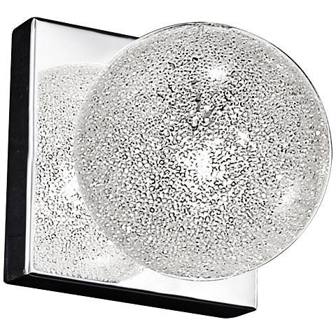 "Opulence 4 1/4"" High Mirrored Steel 1-Light Wall Sconce"