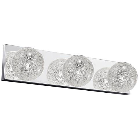 "Opulence 20 1/2"" Wide Mirrored Stainless Steel Bath Light"