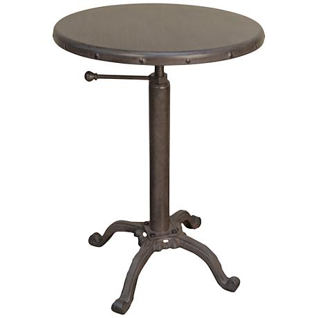 Watford metal adjustable round outdoor accent table for Table watford
