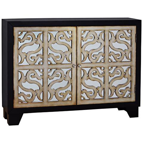 PFC Accents Finesse Mirrored 2-Door Wine Storage Console