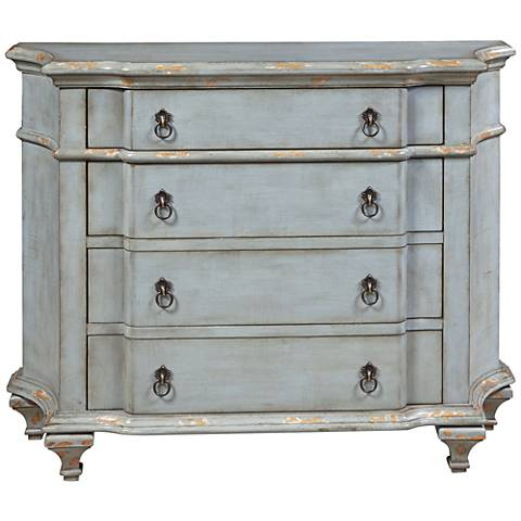 PFC Accents French Distressed Blue 4-Drawer Accent Chest