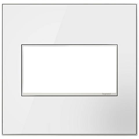 adorne® Mirror White on White 2-Gang Metal Wall Plate